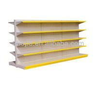 Plain Backboard Supermarket Gondola Shelves/Metal End Caps&Racks/Flat Back Supermarket Shelving