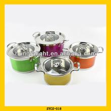 Hot selling stainless steel enamel casserole pot
