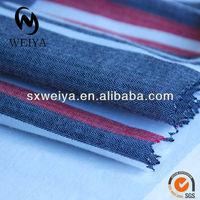 100%cotton white stripe flannel fabric