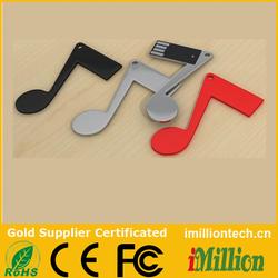 Music treble clef shape usb flash pen drive usb flash memory sticks