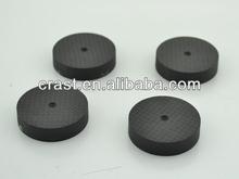 High Performance 40mm*10MM Carbon Fiber Speaker Spike Pad Base Stand Protective Black Hi Fi