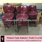Stackable fabric cusion and metal leg for chair