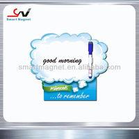 Custom advertise paper fridge magnets with pen holder