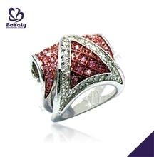 Smart brown color silver bijoux 3 carat diamond ring