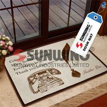 acrylic fiber flocked door mat