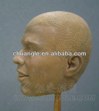 clay model, sport player head sculpture