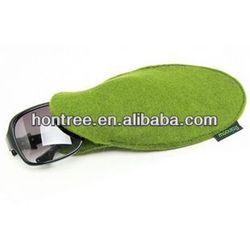 Eco-friendly classic designer felt aluminium glasses case