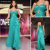 DORISQUEEN Wholesale MOQ1PCS new fashion Spaghetti Strap emerald green vestidos de fiesta plus size prom dress