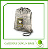eco-friendly factory price see through drawstring bag