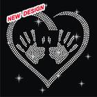 Cool hand image custom garment iron on crystal rhinestone motif FY 42 (4)