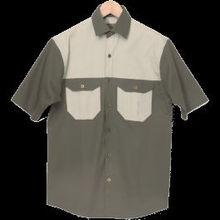Mens Two Tone Bush Shirt