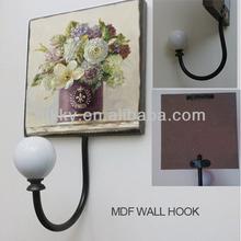 Flower metal coat hooks&Custom metal vintage coat hooks