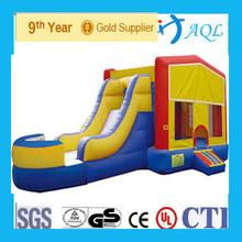 0.55mm PVC tarpaulin bounce house combo with slide