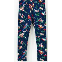 2014 spring kid girls wear birds and broken flowers printed patternedleggings children boutique clothing