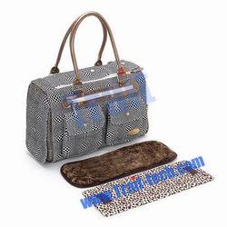 Black Stripe Pattern Pet Dog /Cat Bag Fashion Convenient Pet Carrier Tote Bag