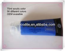 75ml metallic acrylic paint colours, acrylic paint, acrylic color manufacture, EN71-3,EN71-9