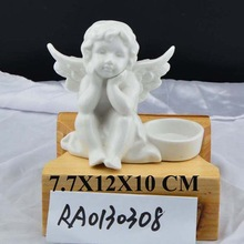 promotional gifts ceramic angel candle holder for home decoration