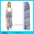 La moda de nueva faldas de impresión para las señoras en 2014, nueva tendencia de gasa. El último falda de las señoras, de alta calidad de moda maxi largo falda