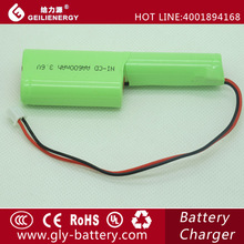 AA High quality made in china ni-cd battery 3.6v 600mah electronic toys battery