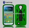 3 in 1 hybrid rubber case for samsung galaxy s4 front back case/robot case for samsung galaxy s4 i9500
