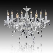 Colore argento dy2101-8 8 luci lampadario di cristallo di rocca 8 luci lampada di cristallo di candela