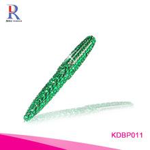 rhinestone pen|blue ballpoint ben|decorative cover ballpoint pen|colorful pen
