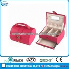 pink leather custom jewelry box making supplies for girls