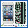 C&T Black and green premium plastic case for apple iphone 5s