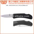 Alta qualidade cabo de plástico de aço inoxidável faca de caça de dobramento