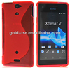 good quality S TPU case for sony Xperia V LT25i back cover case