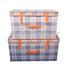 Novo uso doméstico de armazenamento Bin / dobrável caixa de armazenamento de tecido / sob caixa de armazenamento Bed