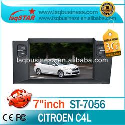 LSQ Star auto central multimedia For Citroen C4 L With 3g Bluetooth,Radio,Ipod,6cdc