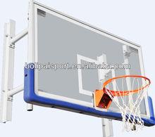 Wall mounted retractable basketball hoop