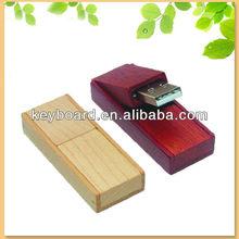 newest design gift natural bamboo flip usb flash drive