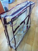 2015 fashion clear pvc platic zipper bag for quilt