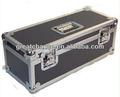 "300 lp vinil 7"" kayıt dj siyah/gümüş pro saklama uçuş taşıma çantası kutusu"