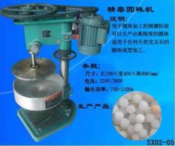 new design gem stone round beads grinding machine, stone beads fine chamfering machine