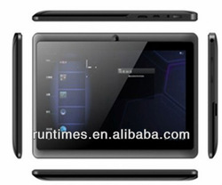 "tablett android 4.0 a13 q88 allwinner 7"" tablet pc wifi, camera, 4GB"