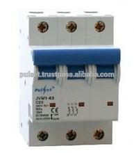 6KA 6A 3 pole Din Rail Mount MCB Miniature Circuit Breaker