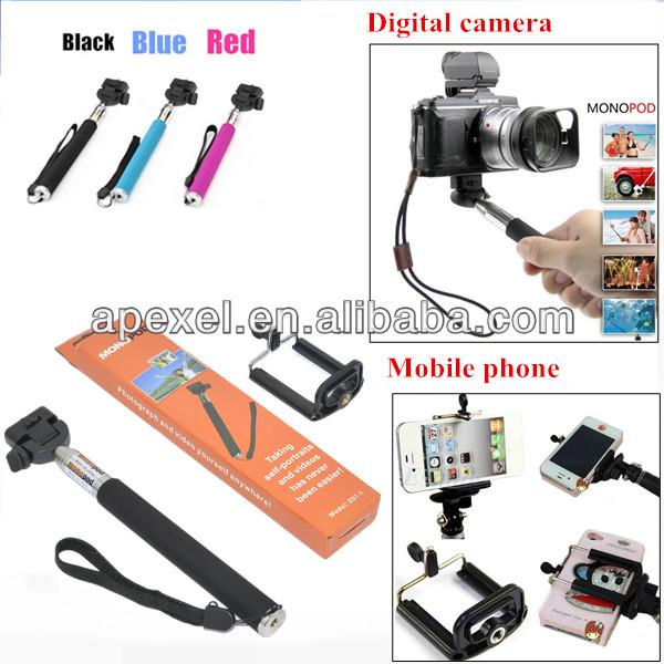mobile phone selfie holder self portrait stick monopod extendable hanheld mon. Black Bedroom Furniture Sets. Home Design Ideas