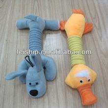 animal dog tube plush dog toys for hot sale