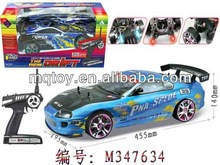 2014 Novetly 4 channels 1:10 R/C racing car with light kid toy new product made in china