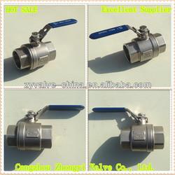 1000PSI 2PC stainless steel long stem ball valve