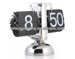 Single-leg Stainless Steel Scale Design Flip Clock