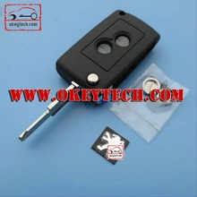 New style key cover for peugeot 206 flip modified remote key shell for peugeot flip key