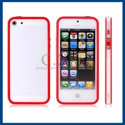 Clear Transparent Hard Case Matte Cover TPU Bumper Frame Case for iphone 5