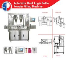 Automatic Dual Auger Bottle Powder Filling Machine