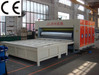 Two color carton box printing slotting die cutting making machine