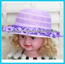 Custom wholesale girls kids sun hat princess