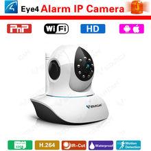 Wireless h.264 ir indoor wifi ip camera sensor alarm ask protocol p2p plug and play alarm system